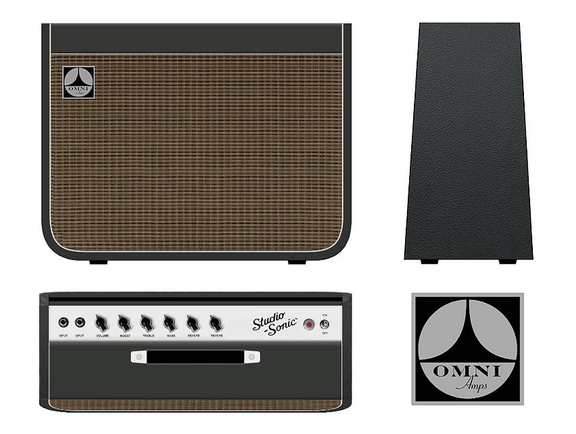 22W combo amp design for concept brand, Omni Amplifiers. design, chris ferebee, 2013/2016