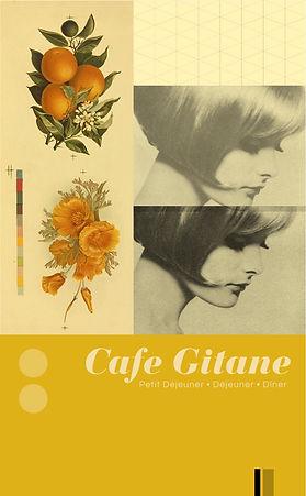 Menu design for NYC restaurant, Cafe Gitane, design: chris ferebee