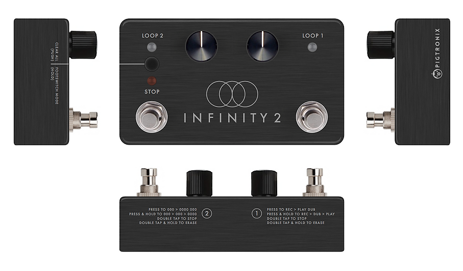 Premilinary mock-up for the Pigtronix Infinity 2 looper.