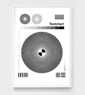 Testchart, 2017, limited edition print | by, chris ferebee