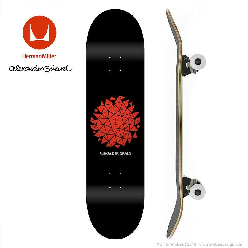 Alexander Girard x Herman Miller skateboard graphics concept, 2016.