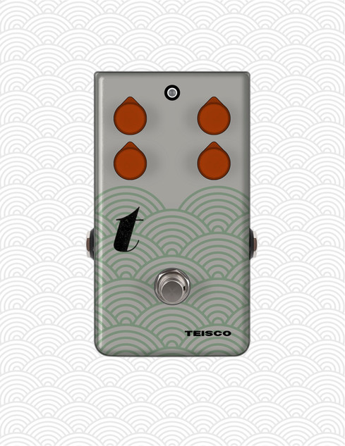 Graphic concept for Teisco effects pedals, 2020