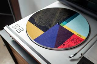 Graphic record mat designed for Symbol Audio, 2017.