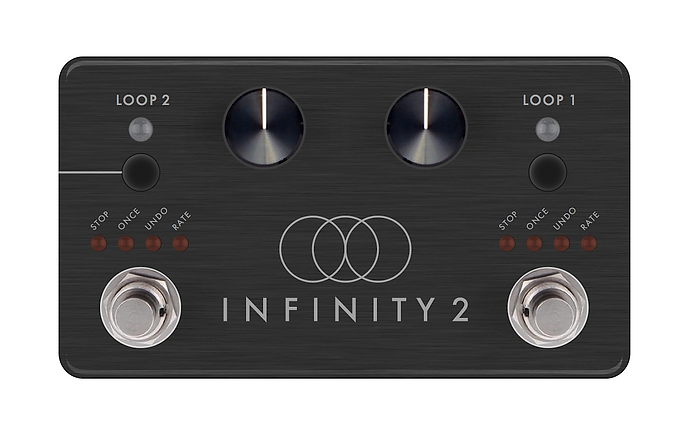 Mock-up for the Pigtronix Infinity 2 looper.