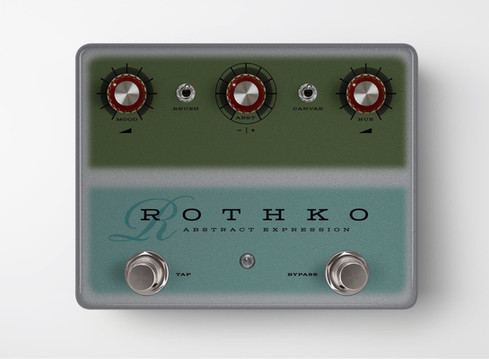 Rothko Abstract Expression, pedal concept inspired by abstract expressionist, Mark Rothko, 2021.