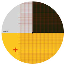 Graphic record mat designed for Symbol Audio, 2020, outtake design.