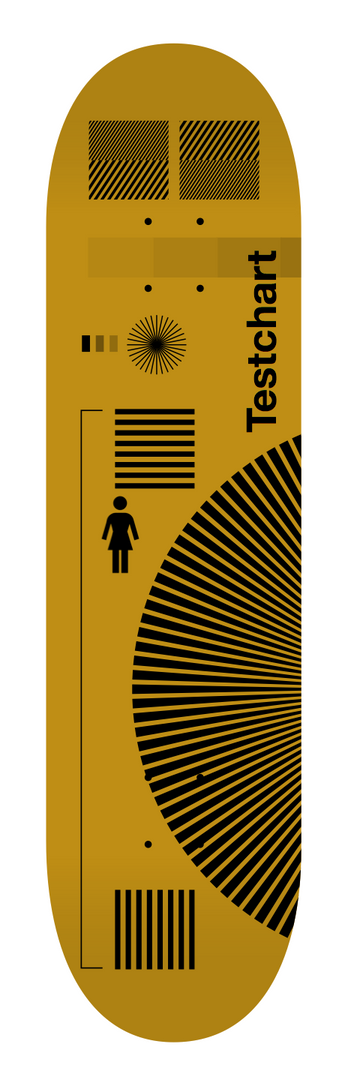 """Testchart"" series skateboard graphics, concept for Girl Skateboards, 2019."