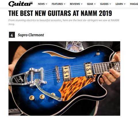 Supro Clermont, Best New Guitars at NAMM 2019, Guitar Magazine