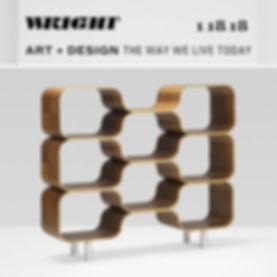 Chris Ferebee, Hive Shelving Unit, modular molded plywood shelving unit, Wright 1-18-18 Art + Design Auction.