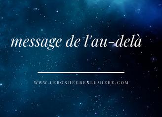 message de l'au-delà