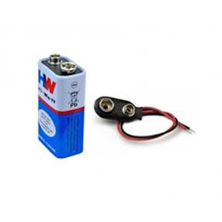2Pcs 9v Battery+Connector