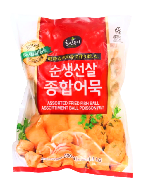 순생선살 종합 어묵 | Assorted Fried Fish Ball | 500g