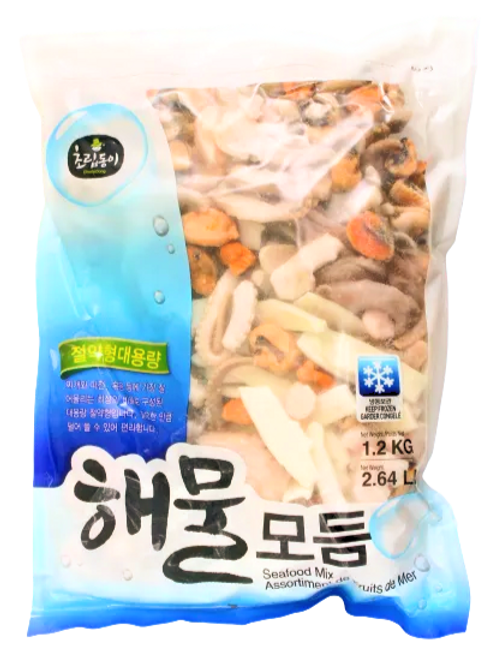해물모듬   Seafood Mix   1.2kg