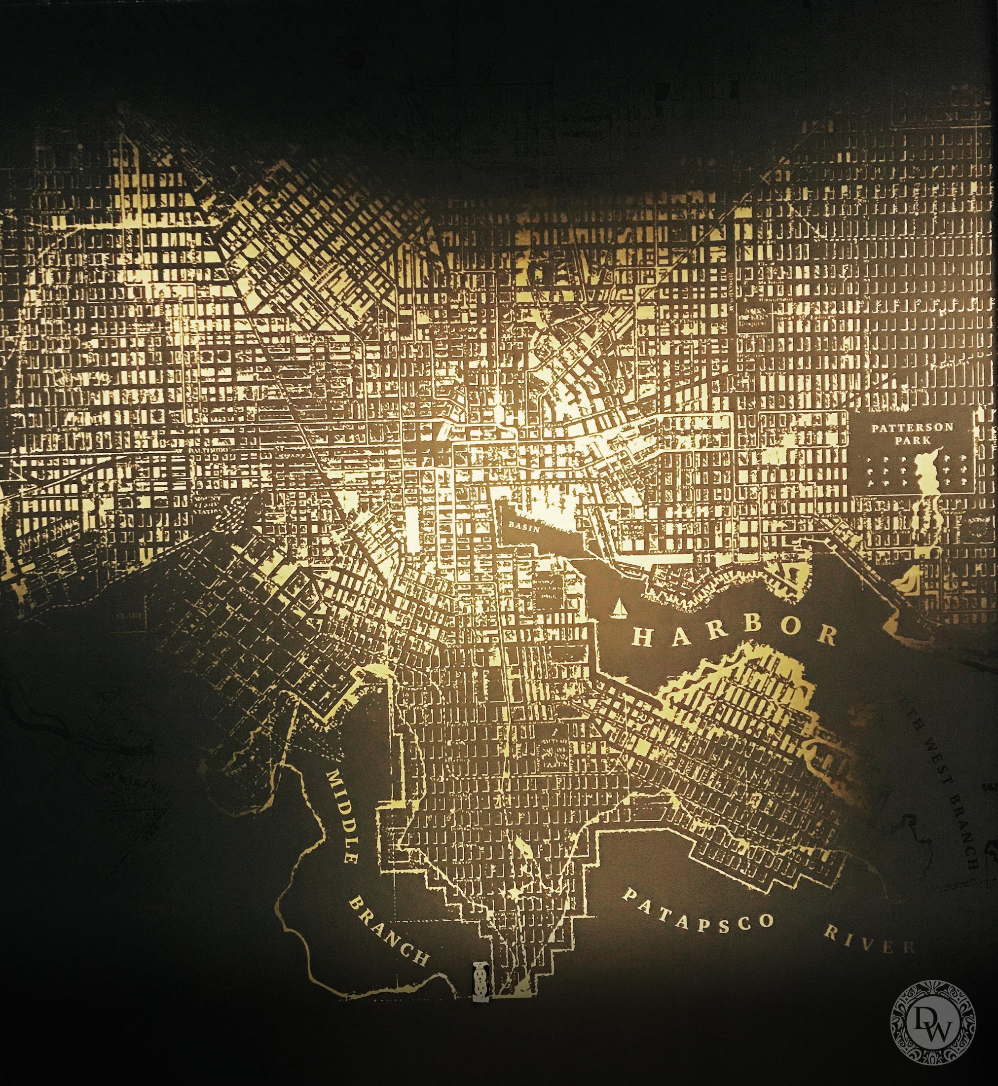 Mylar map
