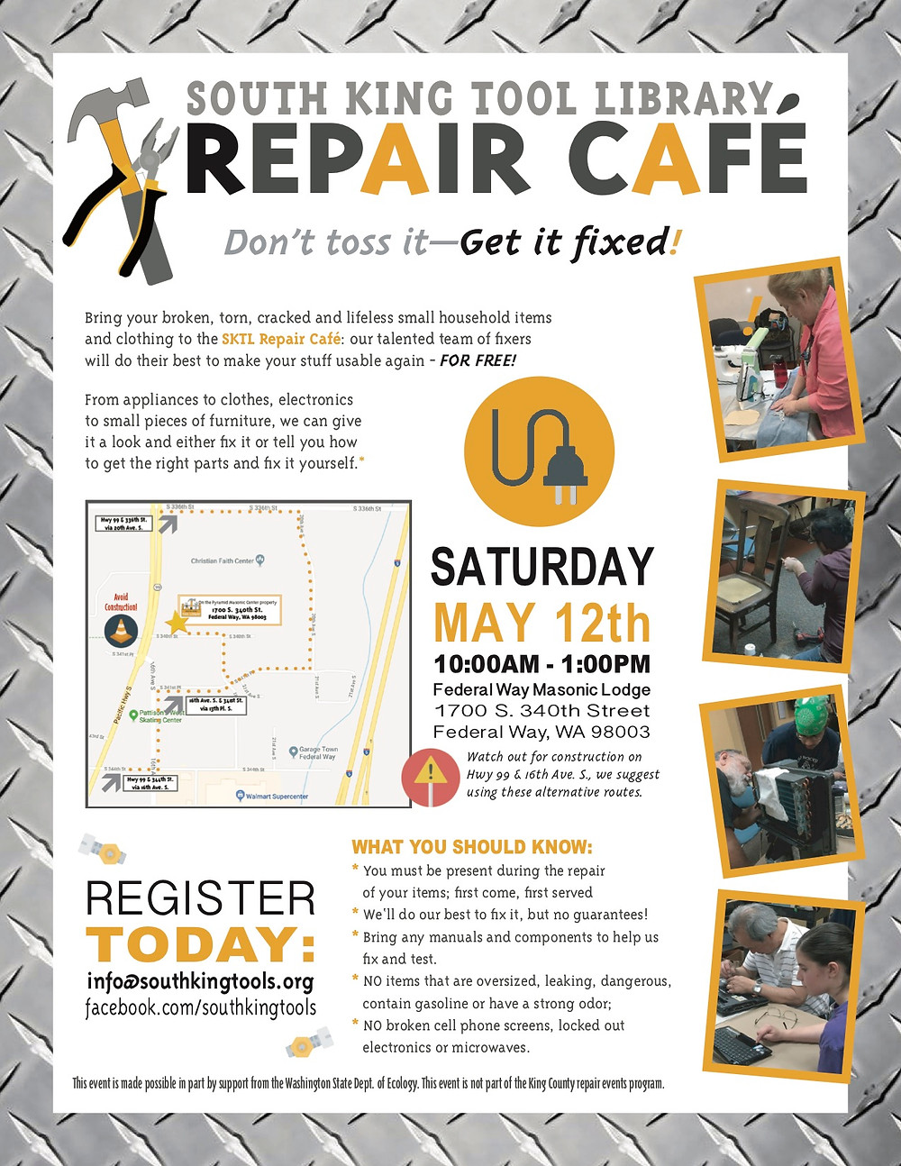 Flyer for May Repair Cafe