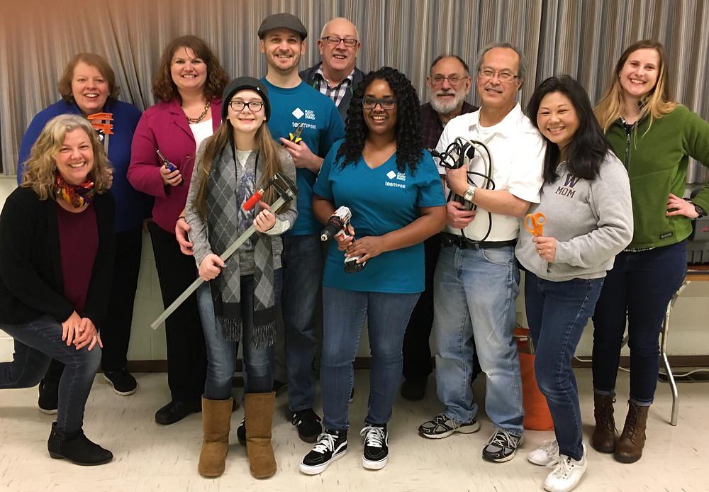 Volunteers after SKTL Repair Cafe event