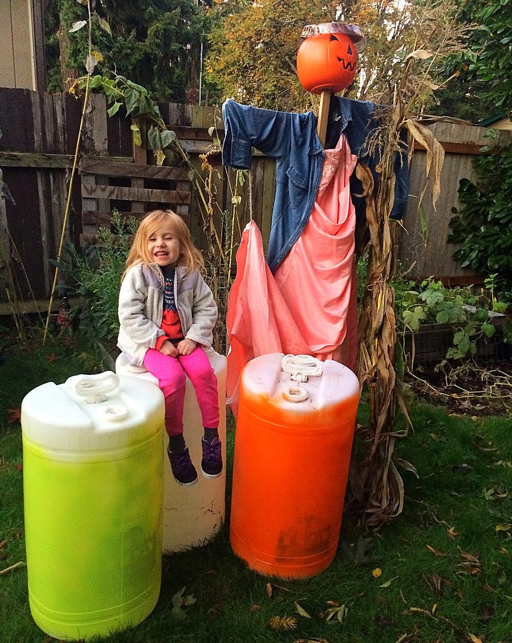 SKTL rain barrels, a scarecrow & a princess!