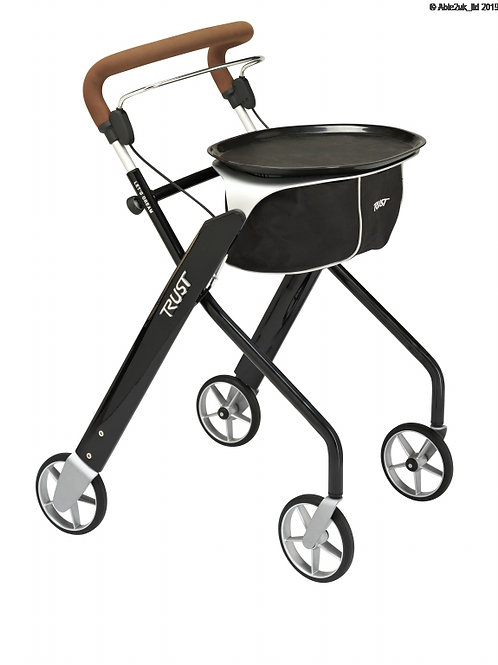 Lets Dream Rollator - Black with brown handle