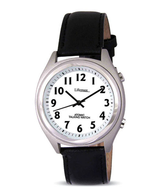 Leather Strap Atomic Watch