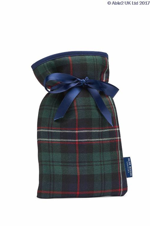 Blue Badge Mini Hot Water Bottle Blackwatch Worsted