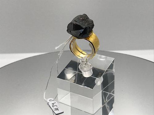 RUTILE BLACK TURMALINE RING !SOLD!