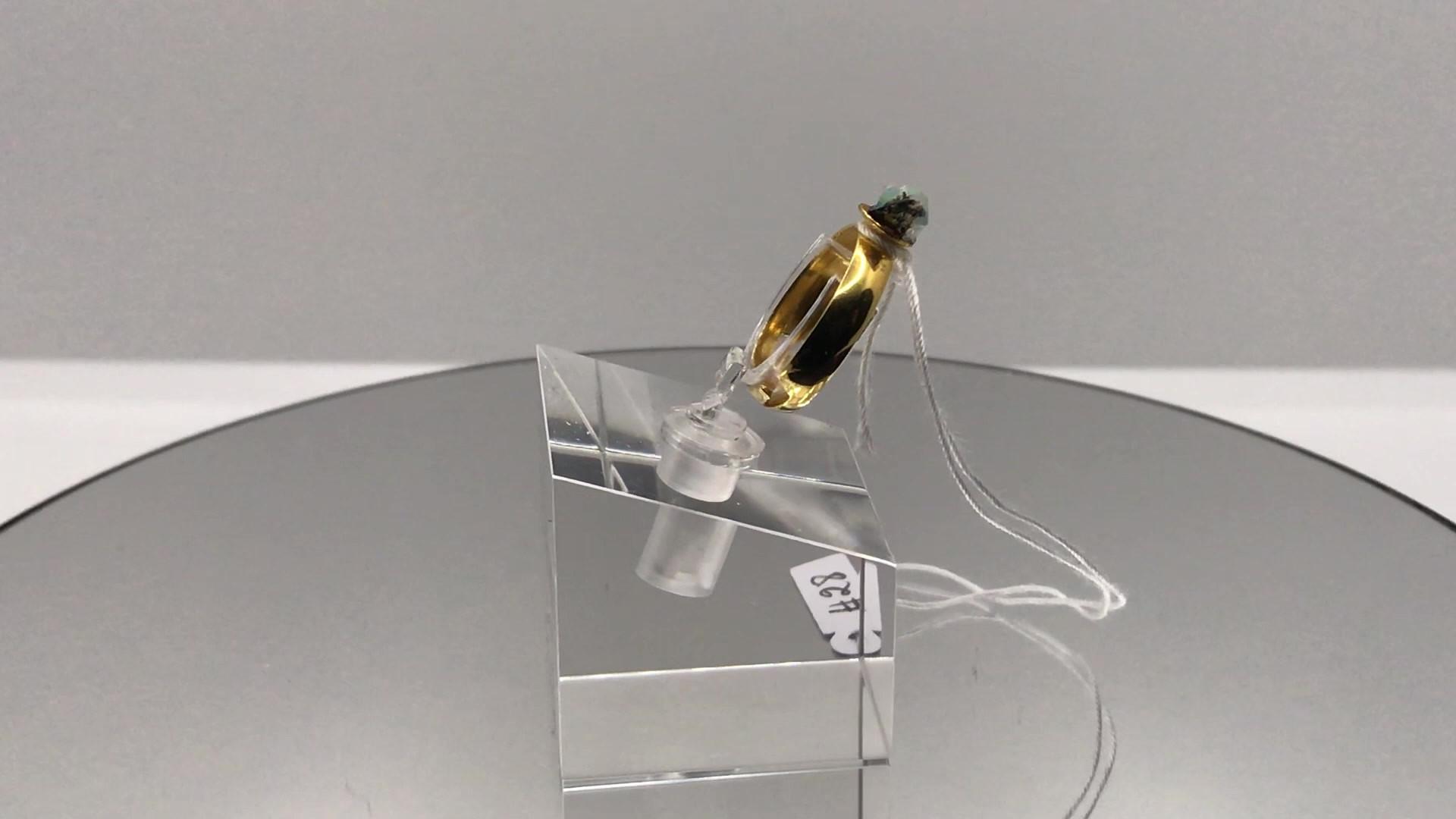 Hydrophane Opal Crystal Ring - Dark  (mo