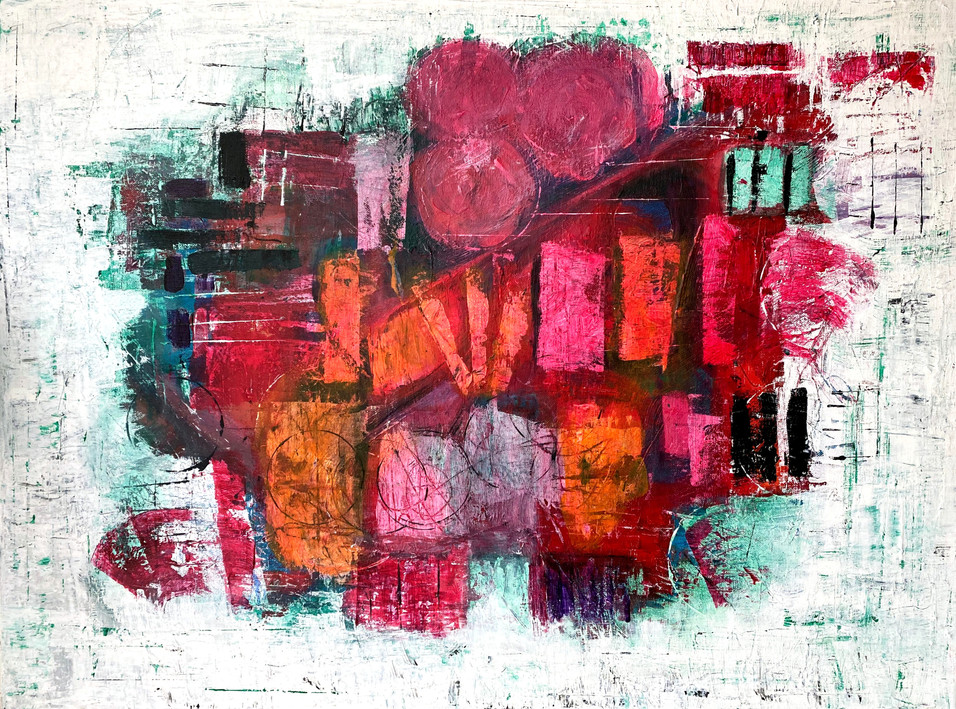 """Ever-Unfolding Rose"" Original painting 60x80 444€"