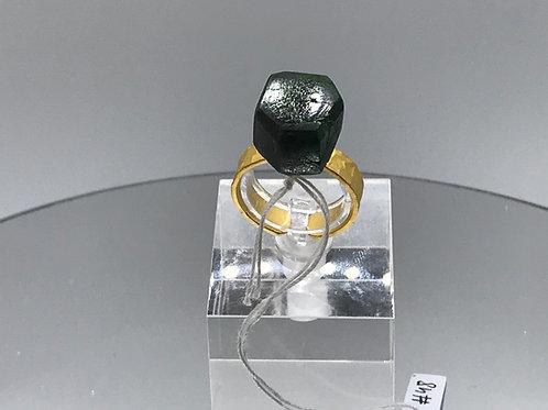 Tsavorite Crystal Ring