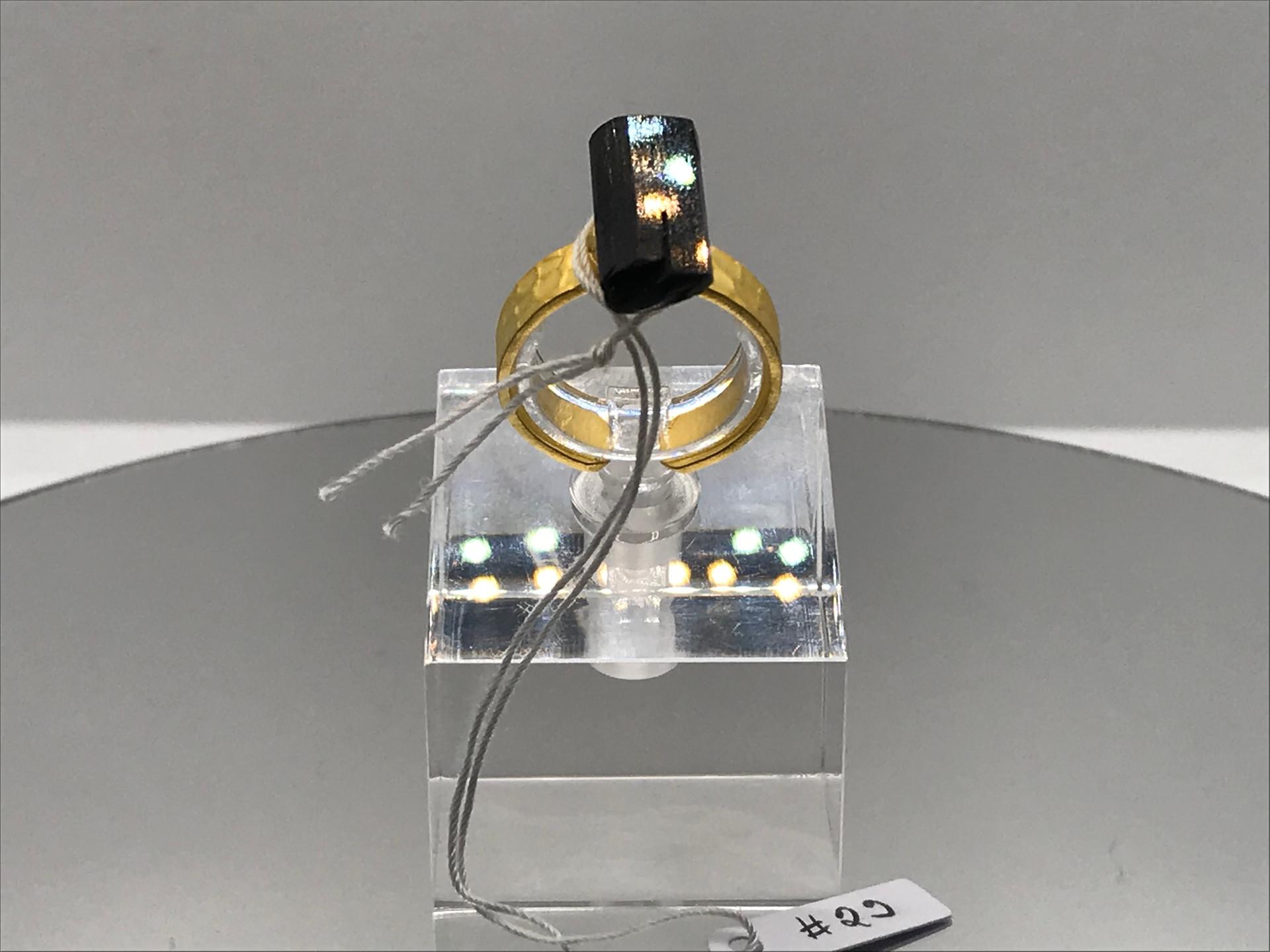 Epidote Crystal Ring