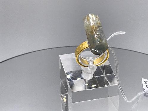 Aquamarine Crystal Ring - Gold
