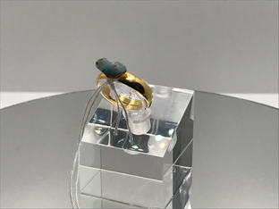 Hydrophane Opal - Dark Crystal Ring 29€