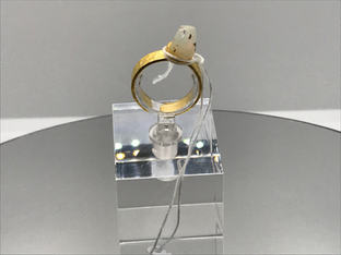 Hydrophane Opal - White Crystal Ring 36€