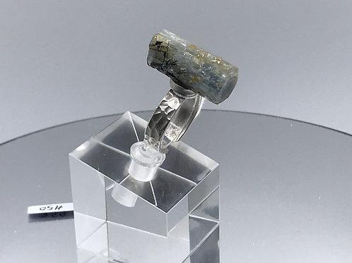 Aquamarine Crystal Ring - Silver