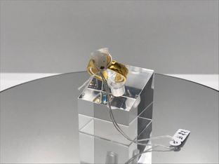 Hydrophane Opal - White Crystal Ring  39€