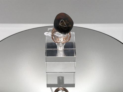 Amber Crystal Ring