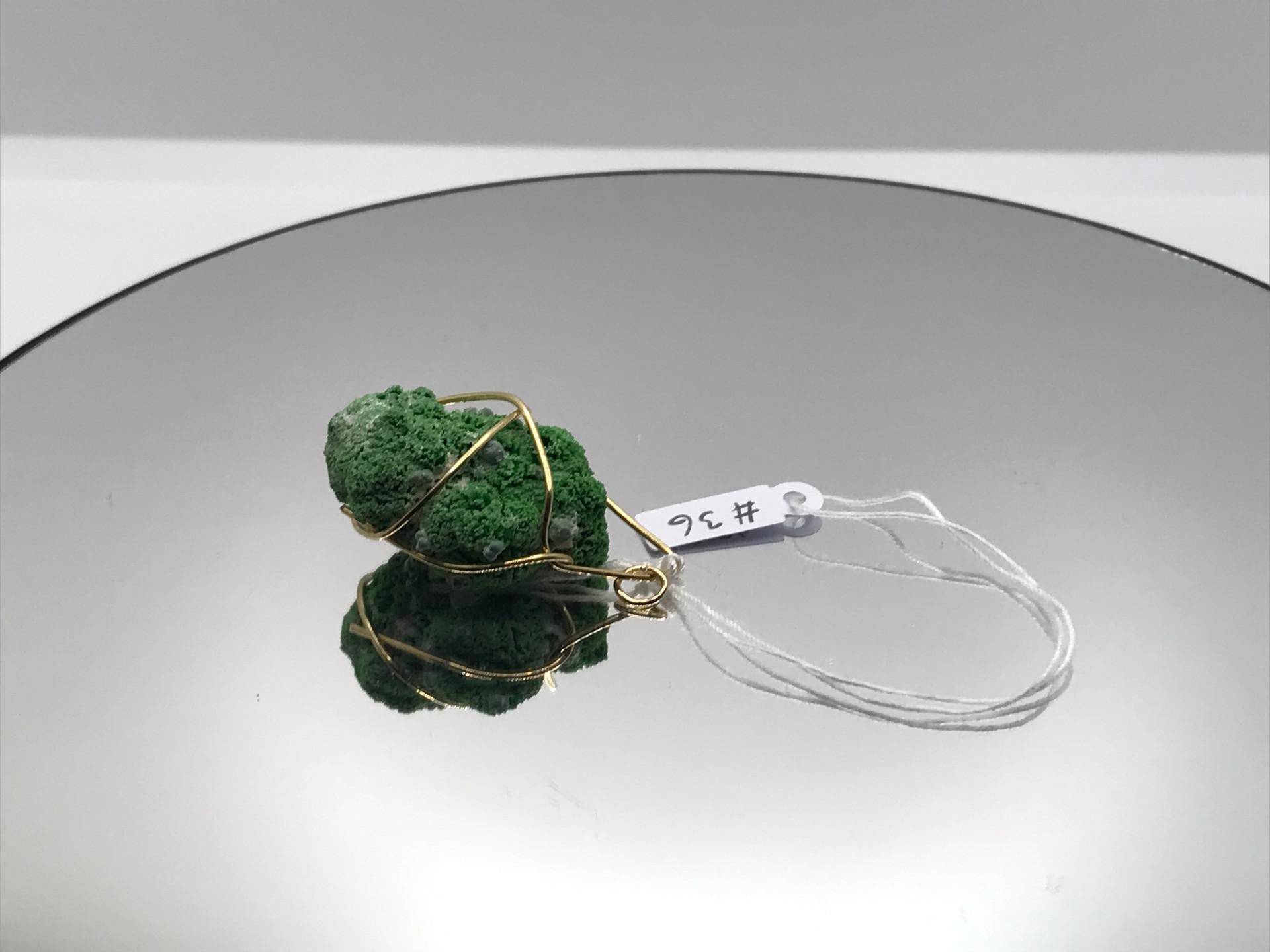 Conichalcite & Olivenite Crystal Pendant