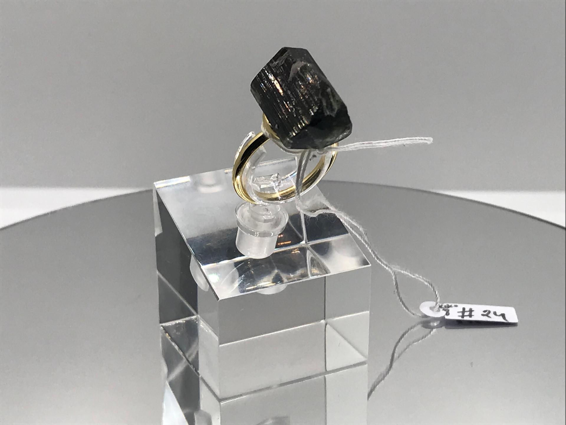 Elbaite Crystal Ring