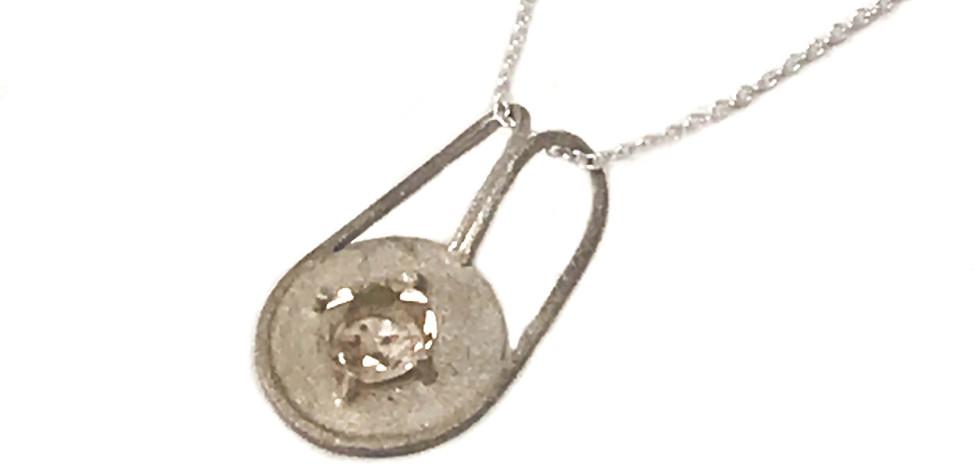 Simple Sapphire Necklace (commission)