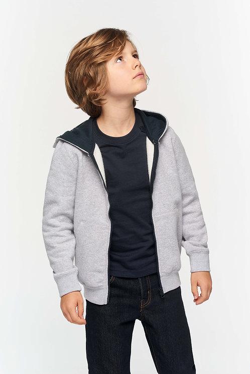 Sweat-shirt zippé Gilet Enfant Personnalisable