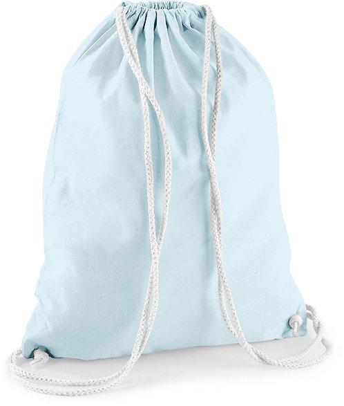Sac à dos pastel en coton avec cordelettes
