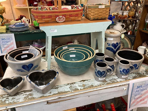 Antiques in an antique store