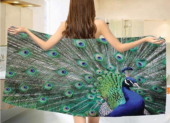 Vakker påfugl badehåndkle
