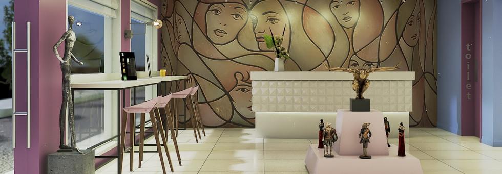 Prosjekt: Kafe og galleri lokale