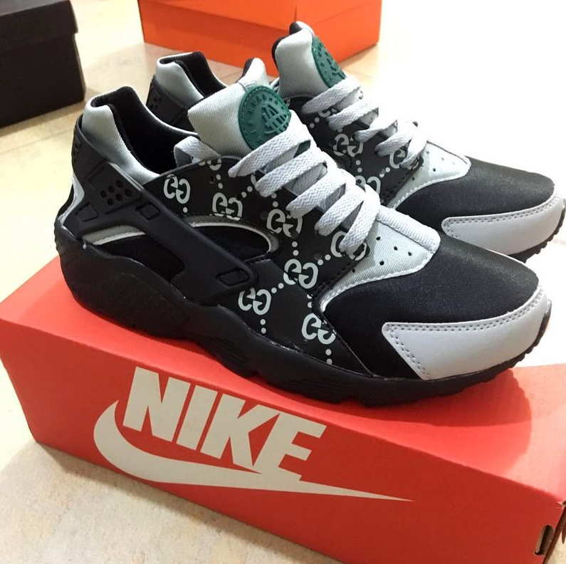sports shoes f7899 389fc Mint Gucci Custom Huaraches | platinumdiamond