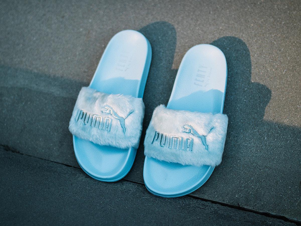 size 40 de331 0bc12 Cool Blue Fenty x Puma Slides | platinumdiamond
