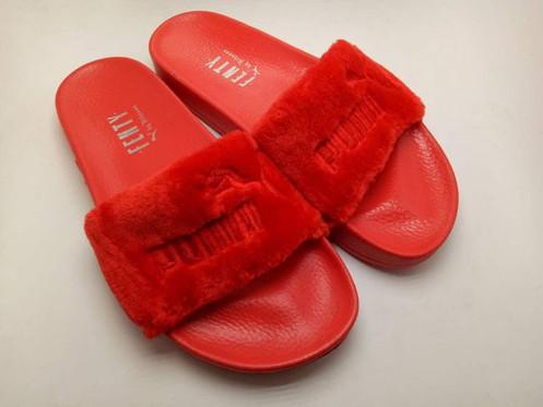 92b9f9a977d9 Red Fenty x Puma Slides