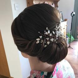 Beautiful Rachael's romantic bridal hair