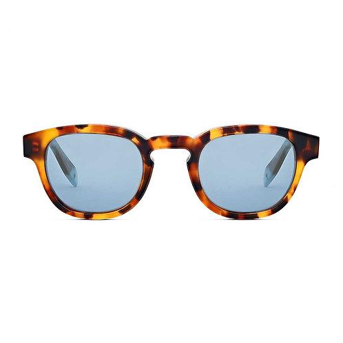 Bauhaus Tortoiseshell | Blue Lens.
