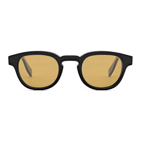 Bauhaus Black | Yellow Lens.
