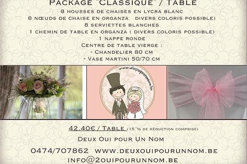 "Package ""classique""/ Table"